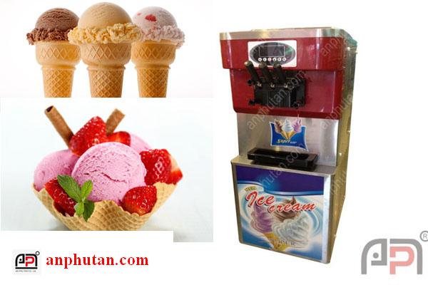 Máy làm kem tươi, máy làm kem 3 màu, máy làm kem 3 vòi giá rẻ tphcm